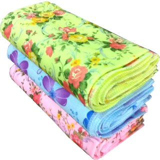 angel homes set of 2 bath towel (flowe design)