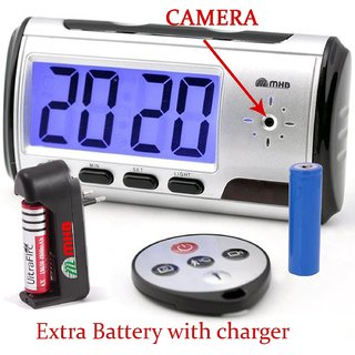 M MHB HD Quality Table clock hidden Recording Motion detection video recording Muiti-function table clock camera.with Bettery charger .While recording no light Flashes. Remote operating 32 gb memory supportable.original brand Sold by M MHB