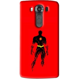 Snooky Printed Electric Man Mobile Back Cover For Lg V10 - Multi