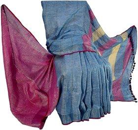 Bhagalpuri Women's Handloom Linen Saree