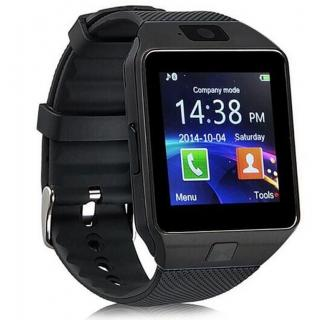 Muskra 402 Black DZ09 SMART Watch Phone For Android IOS Bluetooth Camera SIM Card n Memory Slot