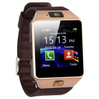 Muskra 403 Gold DZ09 SMART Watch Phone For Android IOS Bluetooth Camera SIM Card n Memory Slot