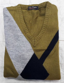 Mens V-neck Full Sleeve Sweater  (Only XL Size)