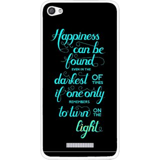 Snooky Printed Everywhere Happiness Mobile Back Cover For Micromax Canvas Hue 2 - Multi