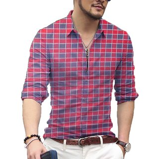 Red check shirt cotton