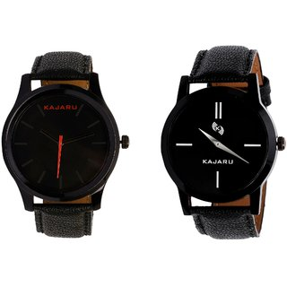 PMAX1Round Black Dial Analog Watch Combo for Men