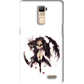 Snooky Printed Kungfu Girl Mobile Back Cover For Oppo R7 Plus - Multi