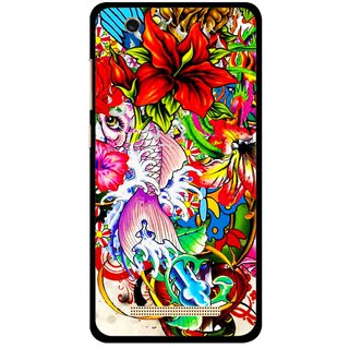 Snooky Printed Horny Flowers Mobile Back Cover For Gionee F103 pro - Multi
