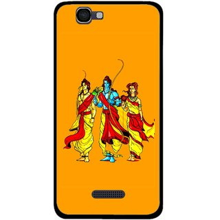 Snooky Printed God Rama Mobile Back Cover For Micromax Canvas 2 A120 - Multi
