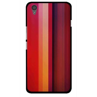 Snooky Printed Colorfull Stripes Mobile Back Cover For One Plus X - Multi