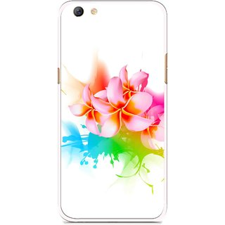 Snooky Printed Colorfull Flowers Mobile Back Cover For Oppo F3 plus - Multi