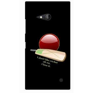 Snooky Printed Cricket Lover Mobile Back Cover For Nokia Lumia 730 - Multicolour