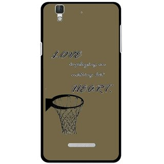 Snooky Printed Heart Games Mobile Back Cover For Micromax Yu Yureka Plus - Brown