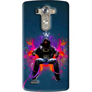 Snooky Printed Live In Attitude Mobile Back Cover For Lg G3 - Multi