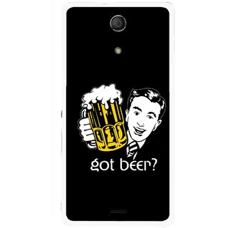 Snooky Printed Got Beer Mobile Back Cover For Sony Xperia ZR - Multicolour