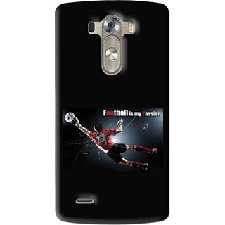 Snooky Printed Football Passion Mobile Back Cover For Lg G3 - Multi