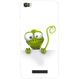 Snooky Printed Seeking Alien Mobile Back Cover For Lava Iris X8 - White
