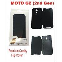 Premium Quality Flip Flap Cover Case For Motorola Moto G G2 2nd Gen XT1068 Black