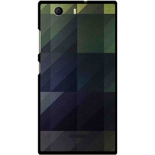 Snooky Printed Geomatric Shades Mobile Back Cover For Micromax Canvas Nitro 2 E311 - Multi