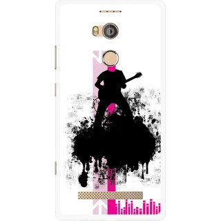 Snooky Printed Music In Air Mobile Back Cover For Gionee Elife E8 - Multicolour