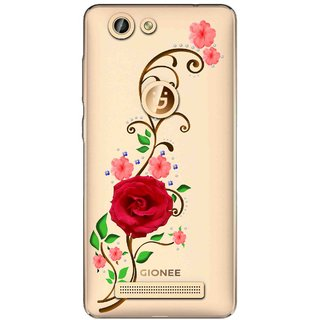 Snooky Printed Rose Mobile Back Cover of Gionee F103 Pro - Multicolour