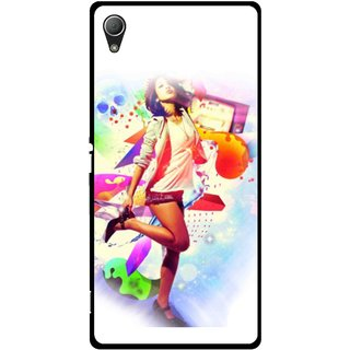 Snooky Printed Shopping Girl Mobile Back Cover For Sony Xperia Z3 - Multi