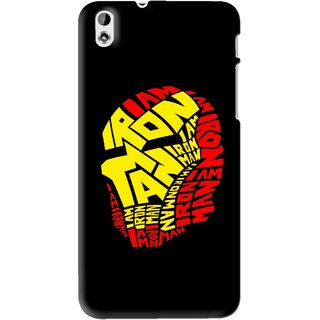 Snooky Printed I am Man Mobile Back Cover For HTC Desire 816 - Black