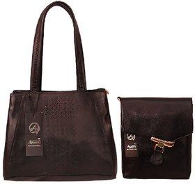 Anemone Women's Shoulder Bag 05 And Sling Bag 02 (Black