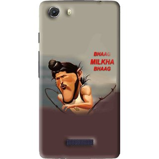 Snooky Printed Bhaag Milkha Mobile Back Cover For Micromax Canvas Unite 3 - Multi