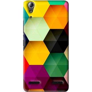 Snooky Printed Hexagon Mobile Back Cover For Lenovo A6000 - Multi