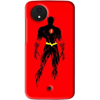 Snooky Printed Electric Man Mobile Back Cover For Micromax Canvas Android One - Multi