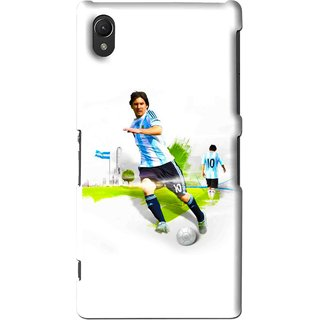 Snooky Printed Football Mania Mobile Back Cover For Sony Xperia Z2 - White