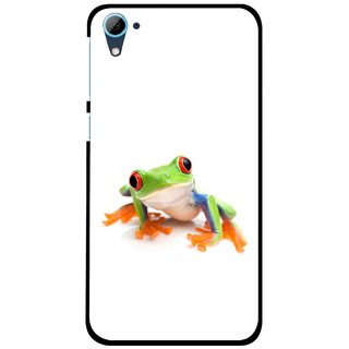 Snooky Printed Frog Mobile Back Cover For HTC Desire 826 - Multi