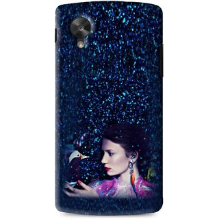 Snooky Printed Blue Lady Mobile Back Cover For Lg G5 - Multi