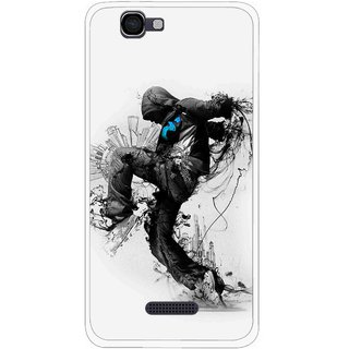 Snooky Printed Enjoying Life Mobile Back Cover For Micromax Canvas 2 A120 - White