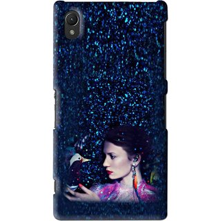 Snooky Printed Blue Lady Mobile Back Cover For Sony Xperia Z2 - Multi