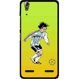 Snooky Printed Focus Ball Mobile Back Cover For Lenovo A6000 - Multi