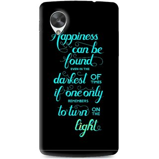 Snooky Printed Everywhere Happiness Mobile Back Cover For Lg Google Nexus 5 - Multi