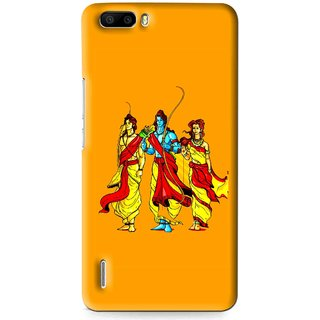 Snooky Printed God Rama Mobile Back Cover For Huawei Honor 6 Plus - Multi