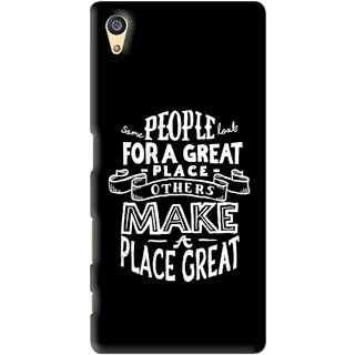 Snooky Printed Personality Attitude Mobile Back Cover For Sony Xperia Z5 - Black