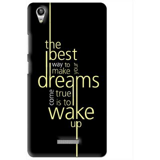 Snooky Printed Wake up for Dream Mobile Back Cover For Lava Pixel V1 - Multi