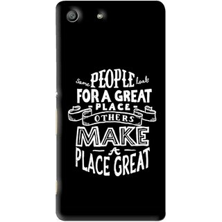 Snooky Printed Personality Attitude Mobile Back Cover For Sony Xperia M5 - Multi