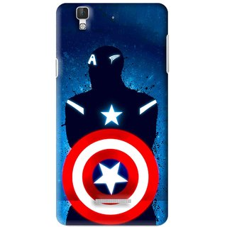 Snooky Printed America Sheild Mobile Back Cover For Micromax YU YUREKA - Multi