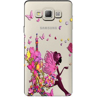 Snooky Printed Butterfly Mobile Back Cover of Samsung Galaxy A7 - Multicolour