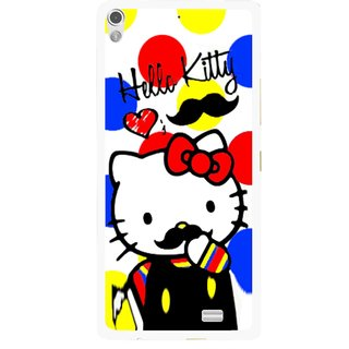 Snooky Printed moustache Kitty Mobile Back Cover For Gionee Elife S5.1 - Multi