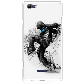 Snooky Printed Enjoying Life Mobile Back Cover For Micromax Canvas Selfie 3 Q348 - White