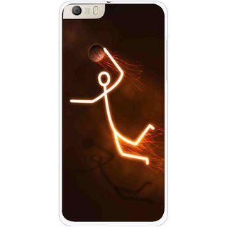 Snooky Printed Burning Man Mobile Back Cover For Micromax Canvas Knight 2 E471 - Multi