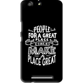 Snooky Printed Personality Attitude Mobile Back Cover For Gionee Marathon M5 - Multi