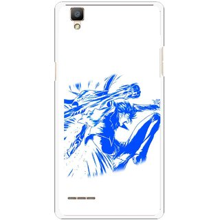 Snooky Printed Horse Boy Mobile Back Cover For Oppo F1 - Multi