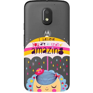 Snooky Printed Amazing Mobile Back Cover of Motorola Moto E3 Power - Multicolour